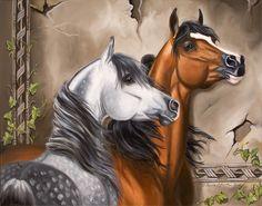 arabian horses paintings - Google Search