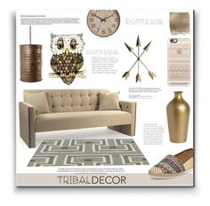 """Tribal Decor"" by lovine ❤ liked on Polyvore featuring interior, interiors, interior design, home, home decor, interior decorating, Nature Breeze, West Elm, Casetify and Dot & Bo"