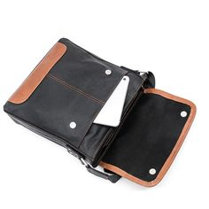 (55.00$)  Watch now - http://aijjx.worlditems.win/all/product.php?id=32721578771 - Leather Mens vertical internal interval Messenger Shoulder soft bag flip School South Korea business documents free shipping