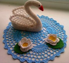 «Лебедь» Мастер-класс по вязанию крючком Фото
