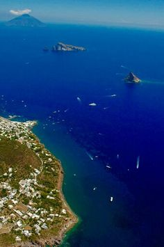 Panarea and Stromboli in the background,