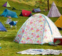 Cath Kidston (Cath Kidston) pedal pattern assembling-type dome tent ...