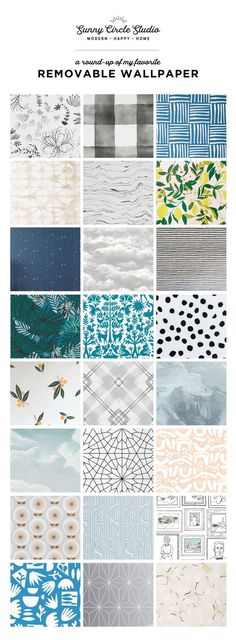 I love the versatility of removable wallpaper, especially for the diversity in design for a home decor enthusiast. Have you considered a room full of wallpaper or even an accent wall? Bedroom Wallpaper Accent Wall, Accent Walls In Living Room, Bathroom Wallpaper, Living Rooms, Accent Wall In Bathroom, Bathroom Yellow, Master Bathroom, Trendy Wallpaper, New Wallpaper