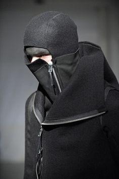Boris Bidjan Saberi fw10 details | Post-apocalyptic Avant-Garde Fashion | #fashion #clothing #hood