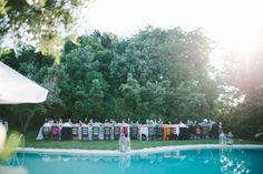 Outdoor Poolside Italian Reception Venue   photography by http://www.leliascarfiotti.com
