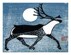 Pootoogook, Kananginak 'Running Caribou' 1958