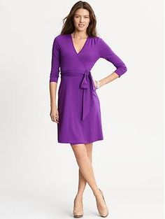 Great color wrap dress from Banana Republic (for tall women!!!)