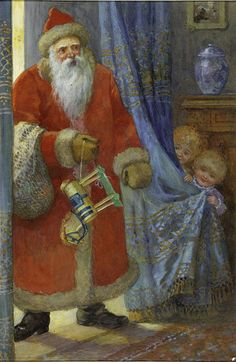 Father Christmas illustration, K Röger, about 1890