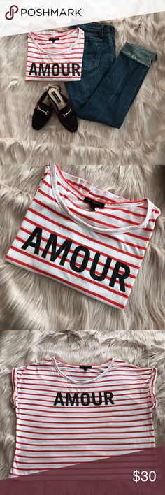 Banana Republic AMOUR ❤️ boxy t-shirt large ✨✨HOST PICK 🎉 Soft orange/white stripe AMOUR ❤️ Banana Republic t-shirt. Would fit M as it should be worn oversized for vintage-feel. Would pair amazingly with all the denim in my closet (the rag & bone jeans featured are listed separately). Bundle and save 💋 Feel free to make an offer on anything in my closet. 🙌🏼 I will reply once with my best and final price. ⚡️No lowball offers please. Thank you and happy poshing! 😎 Banana Republic Tops…