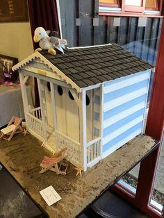 Handmade postbox beach hut for your wedding cards