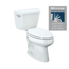 KOHLER Highline Classic White High Efficiency Watersense Elongated Single 2-Piece Toilet $189 at Lowes