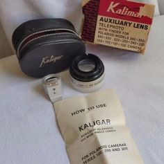 KALIGAR AUXILIARY LENS SET-TELEPHOTO W/FINDER FOR POLAROID MODELS/W CASE…