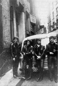 The Beatles (July, 1961. Outside the Cavern Club)