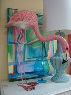 This vintage paper mache flamingo is signed by a Mexican artist. When ...