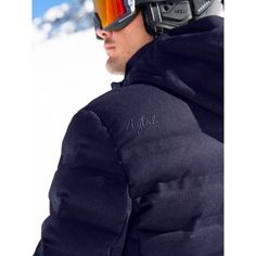 Aztech Nuke Suit Mens Ski Jacket in Wool Navy Multi 1839a17ce