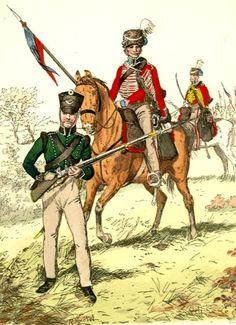 Fuciliere, ussaro e ufficiale degli ussari di volontari prussiani