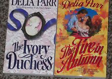 LOT OF 2 DELIA PARR NEW MINT HISTORICAL ROMANCE BOOKS