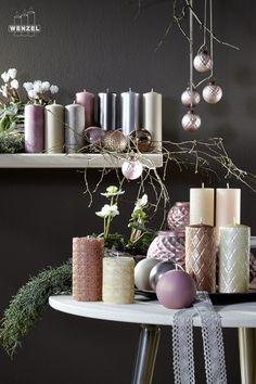 kerzen weihnachten wachs Wenzel Glamour glanz candle Idee Dekoration