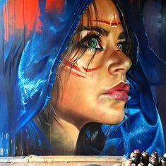 New Street Art by Adnate in NSW Australia #art #graffiti #mural #streetart…