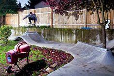 Skatepark in your garden...