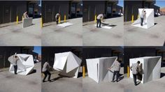 The Compact Shelter designed by Alastair Pryor pops up and down in less than two minutes Mobile Architecture, Architecture Design, Homeless Housing, Design Innovation, Underground Shelter, Portable Shelter, Temporary Architecture, Shelter Design, Compact