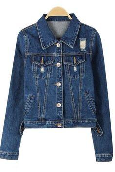 Ashlyn Distressed Denim Jacket  #jacket #suede #kardashian #coat #deal #winter #outerwear #jewelry #friday #romper
