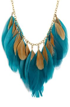 Free shipping and returns on Carole Feather Necklace at Nordstrom.com. Folksy feathers are transformed into a dramatic collar that drapes from the golden chains of a statement necklace.