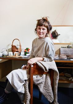 Melbourne ceramicist Hannah Lawrence. Photo by Sean Fennessy for thedesignfiles.net