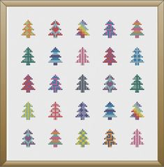 Please note that this is a cross stitch pattern and not a finished product. A fun and festive geometric pattern assured to brighten up your day! This super pattern measures 6.8 x 7 inches and is 96 x 99 stitches. This pattern was designed for 14 count Aida fabric. There are 4 PDF