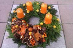 Adventny venček v oranžovej farbe, Autor: sue83