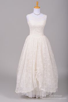 1950 Sabrina Lace Vintage Wedding Gown : Mill Crest Vintage