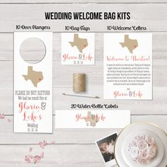 Wedding Welcome Bag Kits, State Themed - can be any state! | Designed By M.E. Stationery