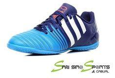 the latest 061a4 c6e72 Adidas Futsal Men Shoes Football Soccer Nitrocharge 4 IN B40421 Indoor Blue   adidas Football Shoes