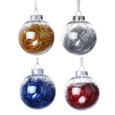 4 x Ice Blue Reindeer Christmas Tree Hanging Decorations Beaded Finish 15cm