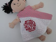Red Heart and Embroidered Print Baby Stella and by tidbitsoftrendy