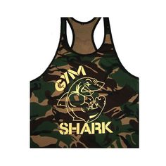 New Singlets Camouflage Tank Tops Shirt Bodybuilding Fitness Men's Golds T-shirt Stringer