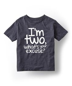 Look at this Heather Blue 'I'm Two' Tee - Toddler & Kids on #zulily today!
