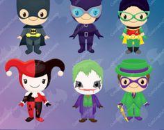 Superhéroe Imágenes Prediseñadas imágenes por CuteGraphicSupply