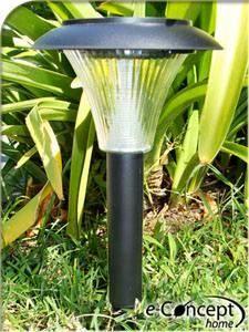 Lampara panel energia solar estaca sol farol exterior for Faroles solares para jardin