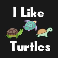 Check out this awesome I Like Turtles design on Land Turtles, Save The Sea Turtles, Cute Turtles, Turtle Time, Pet Turtle, Baby Animals, Funny Animals, Cute Animals, Turtle Quotes