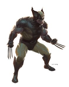 AWESOME WARNING: THIS IS THE BEST WOLVERINE I WILL POST... Today Old school Wolverine by Ryan Lang #PunisherApproved