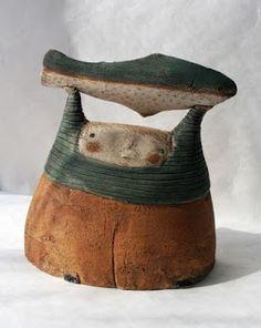 comme un poisson dans l'air /anne-sophie gilloen Sculptures Céramiques, Sculpture Clay, Ceramic Sculptures, Ceramic Figures, Clay Figures, Ceramic Pottery, Ceramic Art, Slab Pottery, Thrown Pottery