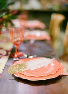 Trending: Feather Wedding Details That Soar New Stylish Heights - Style Me Pretty Chic Wedding, Floral Wedding, Wedding Details, Our Wedding, Wedding Ceremony, Wedding Pastel, Wedding Navy, Forest Wedding, Wedding Bells