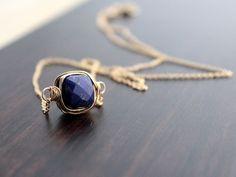 Lapis Lazuli Bezel-Style Necklace