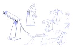 Sketchbook by Rotimi Solola, via Behance Design Lab, Lamp Design, Work Lamp, Industrial Design Sketch, Sketch A Day, Sketch Design, Light Table, Autocad, Designs To Draw