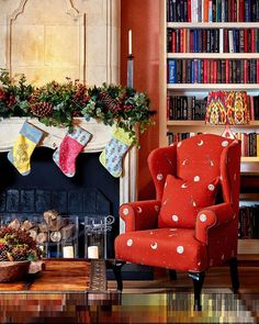 Firmdale Hotels by Kit Kemp (@firmdale_hotels) • Фото и видео в Instagram Merry Little Christmas, Christmas Home, Wingback Chair, Armchair, Chelsea Textiles, Wing Chair, Drawing Room, Accent Chairs, House Design