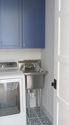 The laundry room is often an overlooked and overworked room in the home. It needs to be functional of course, but what about beautiful? Whether you have a small laundry closet or tiny laundry room, your laundry area can be… Continue Reading → Laundry Room Sink, Laundry Room Remodel, Small Laundry Rooms, Laundry Room Organization, Laundry Room Design, Organization Ideas, Small Laundry Sink, Basement Laundry, Small Utility Sink