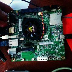 Something we loved from Instagram! Вот такая штука вчера приехала к нам из Соединительных Штатов Америки. nVidia Jetson TK-1 -однопалатный микрокомпьютер на базе процессора nVidia Tegra K1 и интегрированной видеокартой с поддержкой CUDA API. В нашей коллекции уже третий после Raspberry Pi 2 и oLinuXino A20 Micro. #nvidia #jetson #microcomputer #olimex #olinuxino #raspberrypi #job #dataprocessing by dima_idom Check us out http://bit.ly/1KyLetq