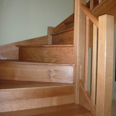 Our Oak staircases range from straight flight to the more complex curved staircases. We are happy to incorporate metal and glass into our staircases.