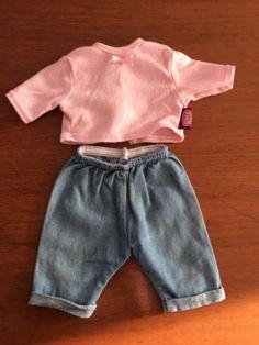 Goetz-Puppenkleidung-33-cm-Hose-Jeans-und-Jacke-2-teilig
